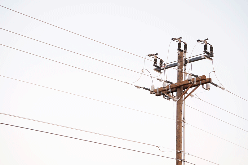 Providing Service for Electric Wood Pole Powerline